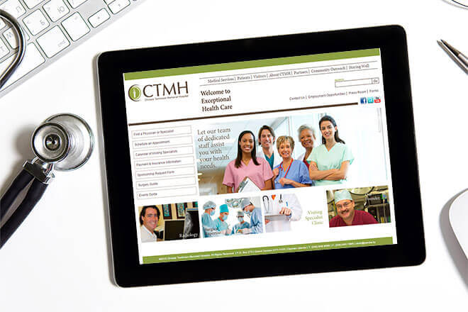 Chrissie Tomlinson Memorial Hospital Website Design