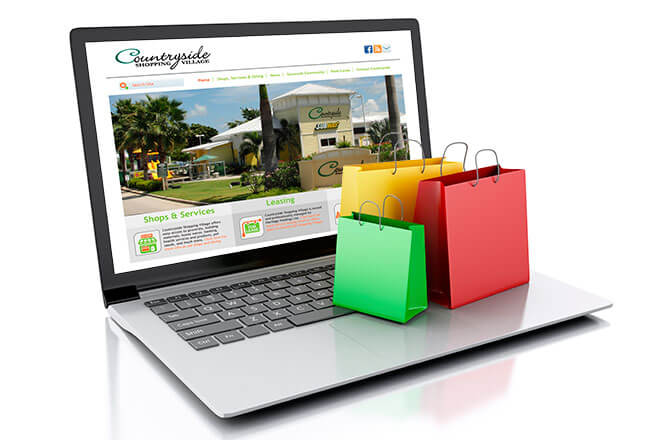 Countryside Shopping Village Website Design