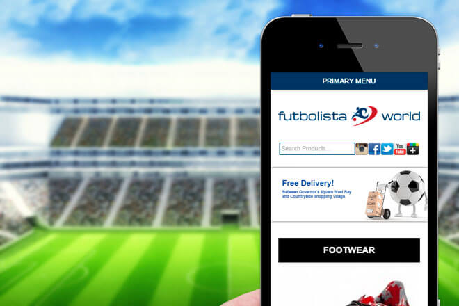Futbolista World Responsive E-Commerce Website Design